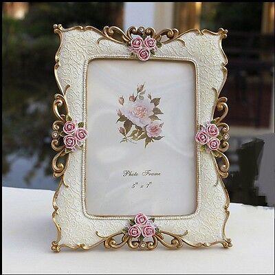 """Rose Lover"" Picture Photo Frame Resin Wedding Vintage Home Decor Lovers Frame"
