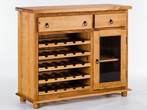 weinschrank holz pinie massiv honig corona schrank sideboard weinregal neu ebay. Black Bedroom Furniture Sets. Home Design Ideas