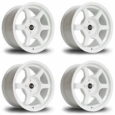 4 x Rota Grid White Alloy Wheels 17x7.5"