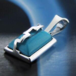 Tuerkis-Silber-925-Anhaenger-Sterlingsilber-Damen-Schmuck-A00124