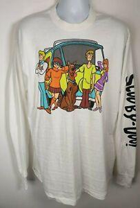 Scooby Doo Cartoon Network Long Sleeve White T-ShirtLarge Hanna-Barbera 71868