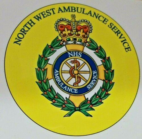 North West servicio de ambulancias NHS Pegatina de vinilo.