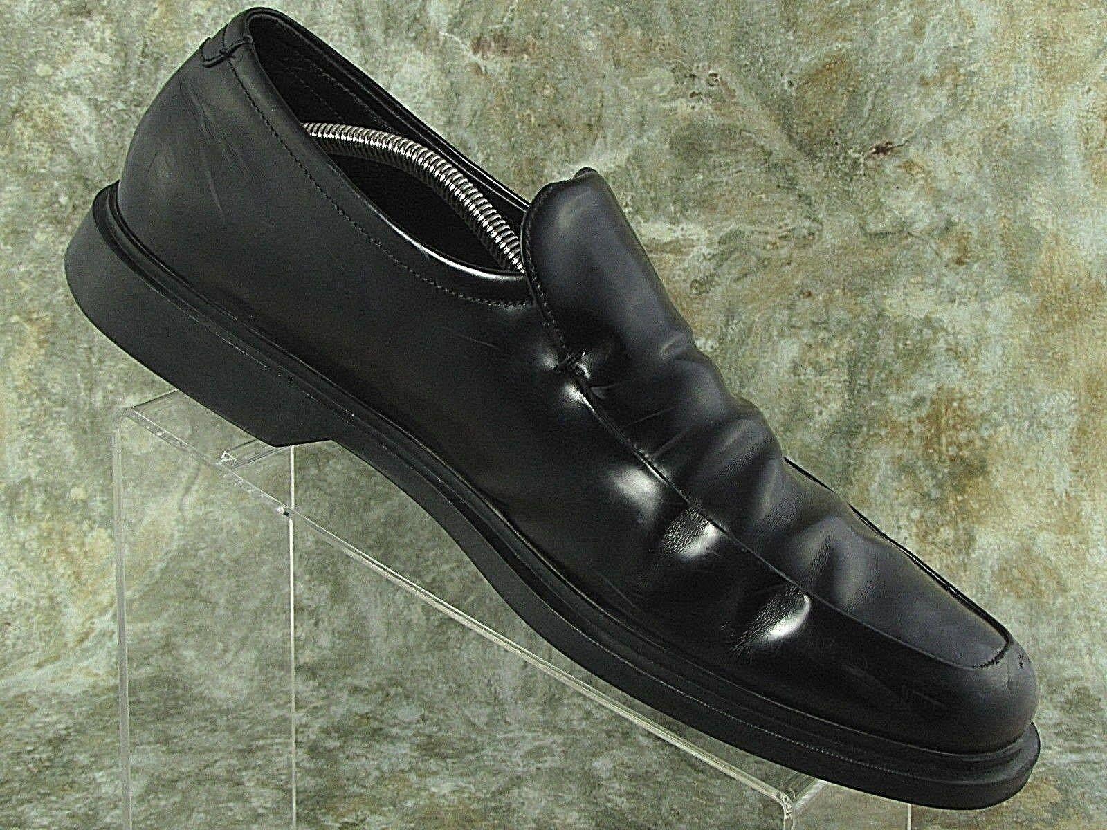 Prada Mens Leather Shoes Black Loafer Slip On Dress Formal Made in Italy