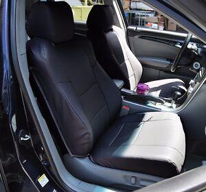 ACURA TL BLACK LEATHERLIKE CUSTOM FIT FRONT SEAT COVER EBay - Acura tl seats