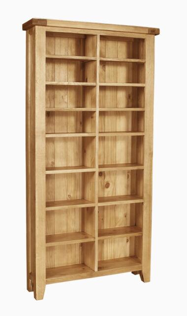 Provence solid oak furniture CD DVD media storage cabinet rack shelves
