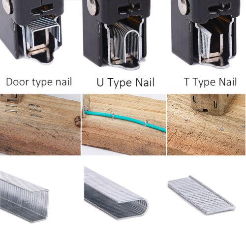 Heavy-Duty Staple Gun Brad Nailer Cordless Stapler Tacker Kit Bonus Nail Remover