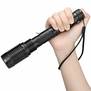 990000Lumen Police Tactical T6 LED High Powered 5-Zoom 18650 Flashlight US Torch
