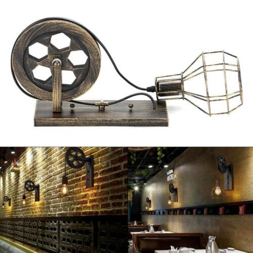 Ace Retro Vintage Light Shade Ceiling Lift Pulley Industrial Wall Lamp Fixture