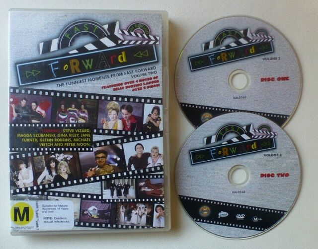 FAST FORWARD FUNNIEST MOMENTS VOLUME 2 dvd set ALL REGIONS comedy RARE OOP