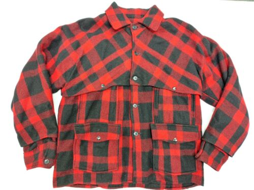 Vtg 30s 40s Black Bear Sportswear Mackinaw Plaid W