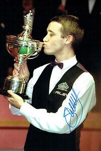 Stephen HENDRY GENUINE SIGNED Autograph 12x8 Photo AFTAL COA UK Snooker Champion