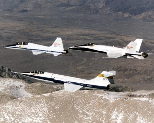 F-104 T-38 /& F-18 JETS IN FORMATION FLIGHT 8X10 PHOTO