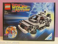 Rare Lego Ideas Back To The Future Delorean Car Cuusoo 21103 Brand