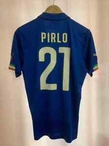 ITALY NATIONAL TEAM 2014/2016 HOME FOOTBALL SHIRT JERSEY MAGLIA SIZE S PIRLO #21