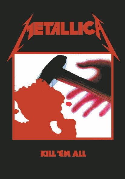 "METALLICA FLAGGE / FAHNE ""KILL 'EM ALL"" POSTER FLAG"