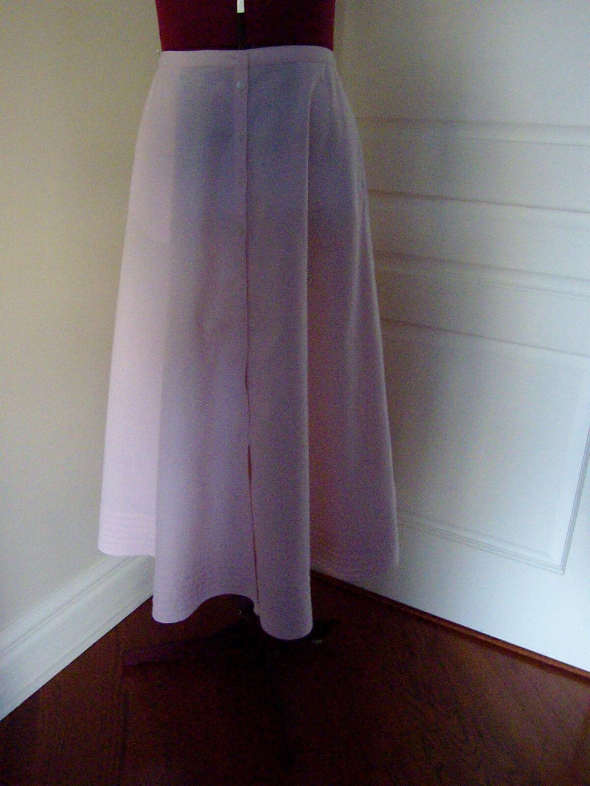 LAUREN JEANS CO. RALPH LAUREN Sz 10 Circular Button Down Skirt  Pink  50s Style