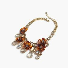 NWT JCrew Tortoise Flower Statement Necklace $148 SOLD OUT Spring Mothers Day