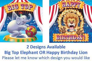Circus-Big-Top-Party-Supplies-Napkins-Serviettes-16pk-3-Ply-Elephant-OR-Lion