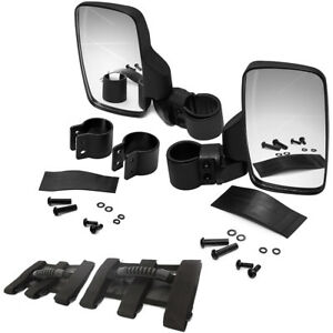 Rear Side View Mirror Kit Fit Utv Can Am X3 Polaris Rzr