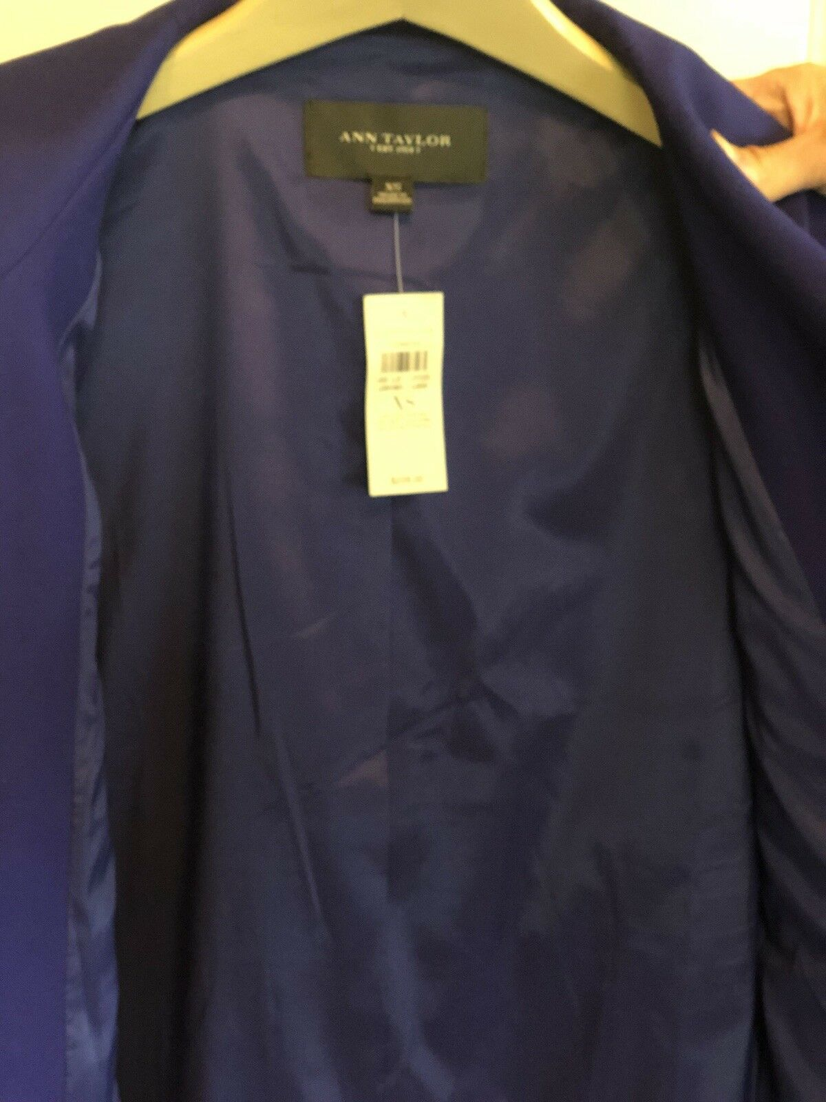 Ann Taylor Taylor Taylor Women's Royal bluee High Collar Zippered Front 587408