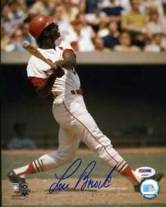 Lou-Brock-Psa-Dna-Coa-Autograph-8x10-Photo-Hand-Signed-Authentic