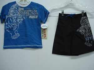 NWT Boy/'s Carters T-Shirt /& Swim Shorts Outfit White//Navy Multi Size 5 #294K