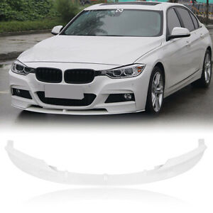 2x-Front-Bumper-Spoiler-Lower-Lip-For-2012-2018-BMW-F30-3-Series-Sport-M-White-M