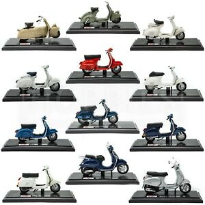 Maisto-Vespa-Scooters-Diecast-Model-1-18-Moped-125-150-PX-GTS-Sprint-Veloce