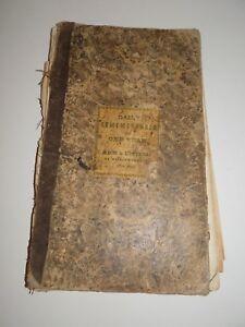 Antique-1870s-Ledger-Scrapbook-Newspaper-Articles-Handwritten