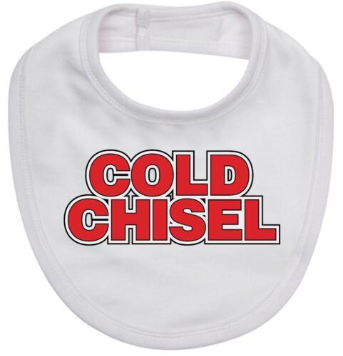 Baby romper suit one piece PLUS a baby bib rock legends COLD CHISEL new cotton