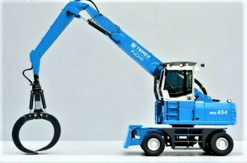 NZG 684 TEREX FUCHS MHL 454 matériel Handler DIE-CAST 1 50 brand-new Comme neuf in box