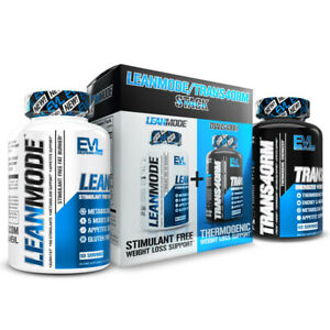 Evlution Nutrition LeanMode + Trans4orm Stack Fat Burner Weight Loss Diet Kit