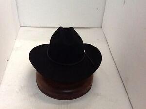 Stetson Cowboy Hat 6X Beaver Fur BLACK Carson With Free HAT ... ad1a57d47c3e