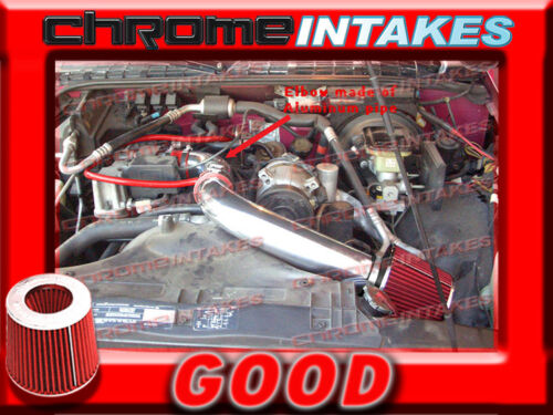 RED 94 95 96 97 CHEVY S10 S-10//XTREME//HOMBRE//SONOMA 2.2 2.2L COLD AIR INTAKE 3/""