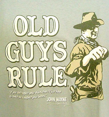 John Wayne,Respect Your Elders,Old Guys Rule,Large,Cactus Green,Legend,Fists