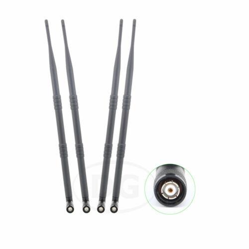 4 x 9dBi RP-TNC WiFi Wireless Antenna Dual Band 2.4GHz 5GHz High Gain New