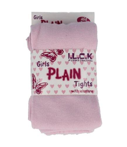 GIRLS PLAIN TIGHTS I.L.C.K DARK LIGHT CERISE PINK RED CHILDRENS CLOTHING 46B165