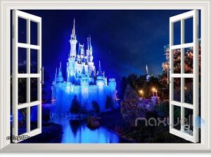 Image Is Loading Disney Princess Magic Castle Night 3D Window Wall  Part 64
