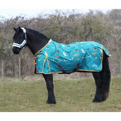 Gallop trojan 100g fill//lightweight dog print  standard neck rug
