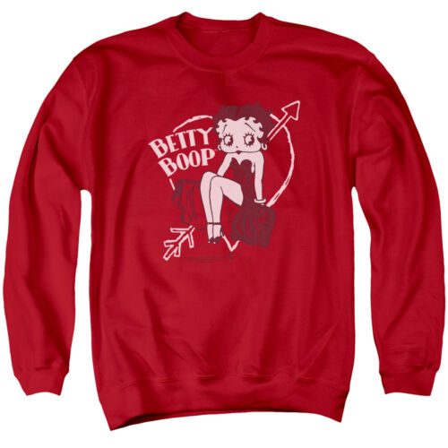 BETTY BOOP LOVER GIRL Licensed Adult Pullover Crewneck Sweatshirt SM-3XL