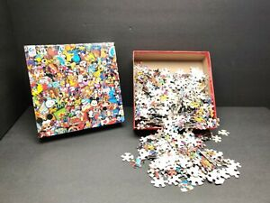 Disney-Collector-Pins-Vintage-Poster-Ceaco-750-Pcs-Jigsaw-Puzzle-2015-Complete