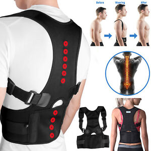 Posture-Corrector-Support-Magnetic-Lumbar-Back-Shoulder-Brace-Belt-For-Men-Women