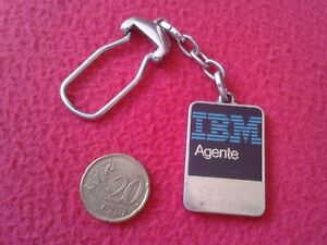 LLAVERO-OLD-RARE-KEYRING-KEYCHAIN-PORTE-CLES-PARA-AGENTE-IBM-AGENT-INFORMATICA