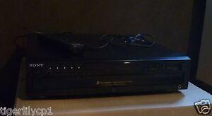 SONY zwarte CD-speler wisselaar voor 5 CDs
