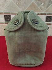Original WW1 US Army M1910 Canteen Cover AEF Khaki Dated 1918