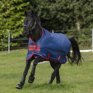 Amigo-Mio-Lite-0g-Horseware-Regendecke-darkblue-red-Outdoordecke-Pferdedecke