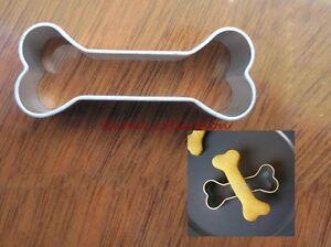 2pcs Dog Favorite Bones Shape Cookies Cutter Fondant Biscuit Moulds Pastry Mold