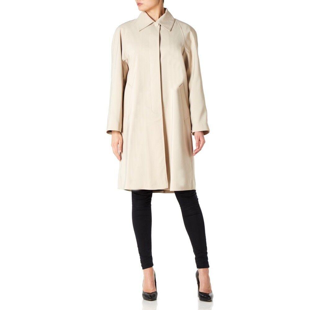 De LA Creme - Women`s Spring Long Fly Front Raincoat