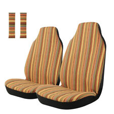 4pc Baja Front Car Seat Covers Stripe Saddle Blanket For Car Suv Truck