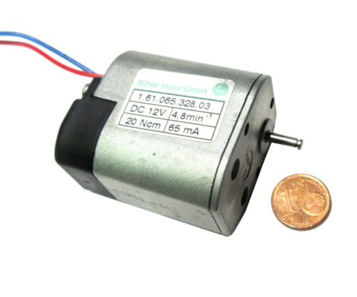 Motor de engranajes B-hler 12V superslow sólo 4.8 rpm 1.61.065.450 1 pieza